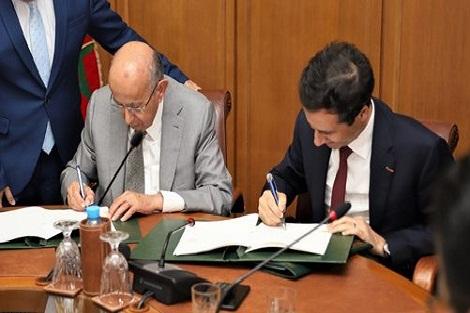 المغرب والصندوق العربي للإنماء الاقتصادي والاجتماعي يوقعان اتفاقيتي قرض بمبلغ 2.27 مليار درهم