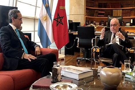 العلاقات بين الأرجنتين والمغرب يطبعها على الدوام تعاون وثيق في مختلف المجالات (وزير خارجية الأرجنتين)