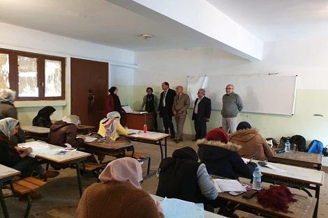 عبد المومن طالب يزور مراكز إجراء اختبارات  توظيف هيئة التدريس أطر الأكاديمية