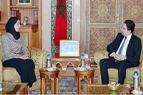 بوريطة يجري مباحثات مع رئيسة مجلس النواب البحريني