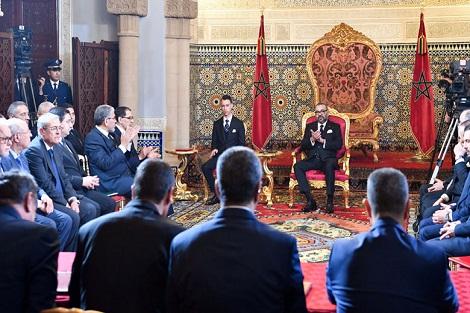 جلالة الملك يترأس بالرباط حفل توقيع الاتفاقية الإطار لإنجاز البرنامج الوطني للتزويد بالماء الشروب ومياه السقي 2020-2027