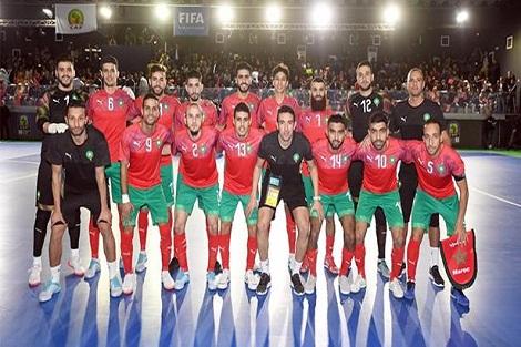"""المنتخب المغربي يتأهل لنهائي كأس أمم إفريقيا لـ """"الفوتسال"""" بالعيون"""