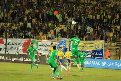 ذهاب نصف نهائي كأس محمد السادس للأندية العربية الأبطال..الرجاء ينهزم أمام الإسماعيلي المصري ب1-0