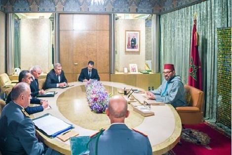 الملك محمد السادس يترأس جلسة عمل لتتبع تدبير انتشار وباء كورونا بالمغرب