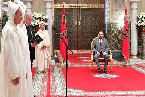 الملك محمد السادس يستقبل الأعضاء الأربعة الجدد المعينين بالمحكمة الدستورية