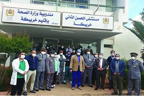 مغادرة ثاني حالة شفاء من فيروس كورونا المستشفى الإقليمي بخريبكة